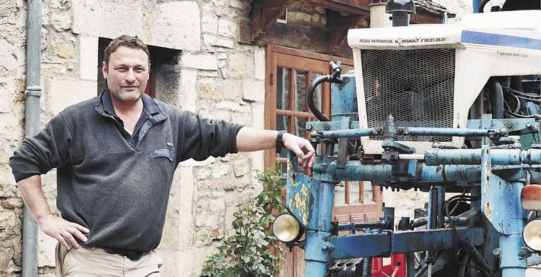 "A scene from the movie ""Three Days of Glory"" features Thiébault Huber of Domaine Huber-Verdereau in Volnay. ##Photo provided"