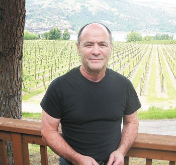 Tom Garnier put his emphasis on growing quality grapes at Garnier Vineyards, on the old Mayerdale Estate east of Mosier, Ore. Photo by Stuart Watson