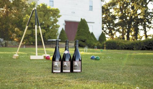 Polite maintains the croquet court just outside the property's old barn. Guests are welcome to play if the mallets are out and the sun is shining. ##Photo Provided