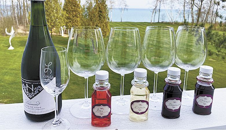 Naumes Family Vineyards uses individual bottles to help achieve its virtual tasting. ##Photo provided