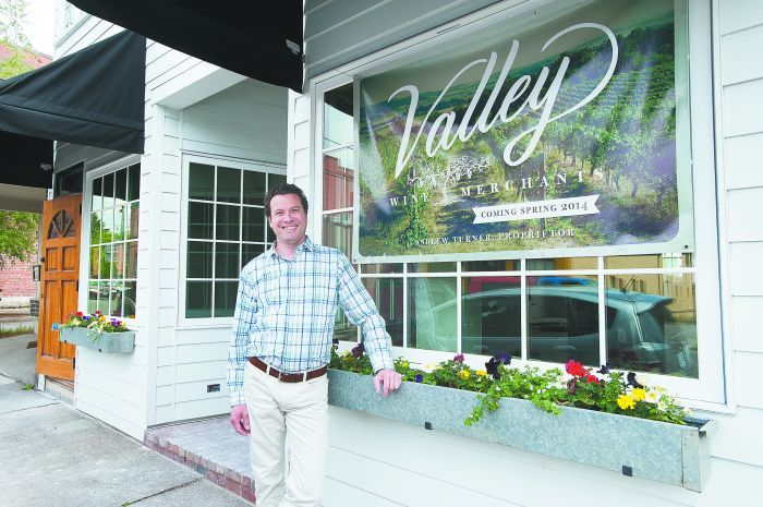 Andrew Turner, proprietor of Valley Wine Merchants, located in downtown Newberg.