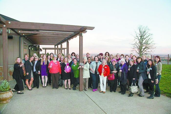 Member of WOW gather for an event at Durant Vineyards in Dayton