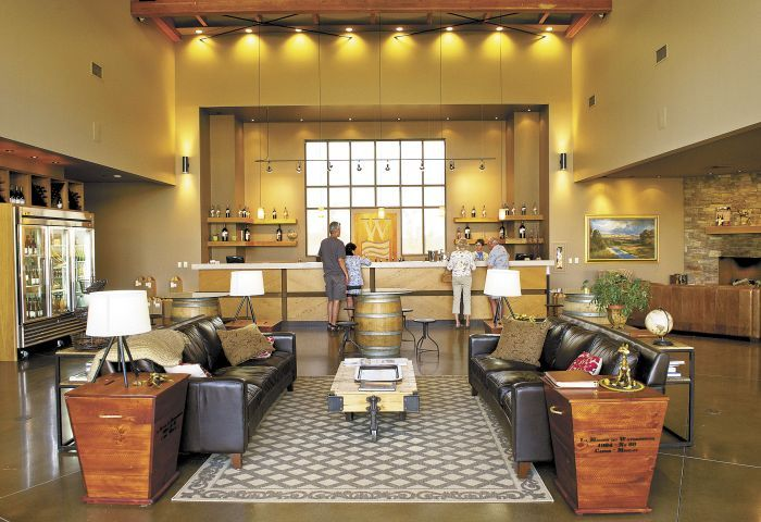 Waterbrook Winery's tasting room offers casual elegance in the Walla Walla Valley.