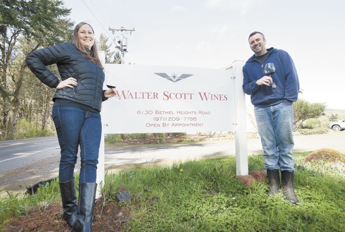 Erica Landon and Ken Pahlow began their wine journey years before meeting, marrying and making wine under the Walter Scott label. Photo by Marcus Larson.