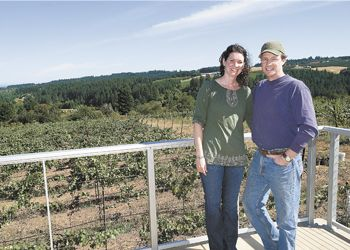 Co-owners Scott and Annie Shull pose