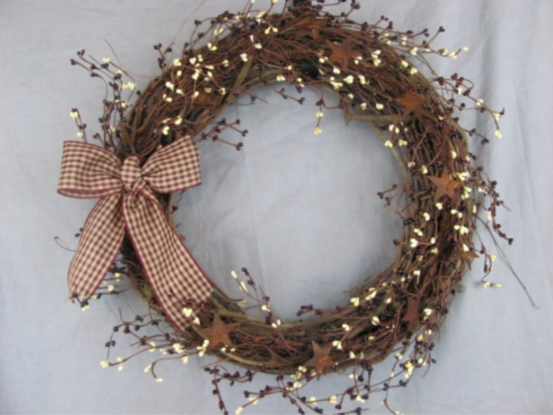 annual grapevine wreath making party