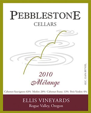 Pebblestone's Mélange is a Bordeaux-style blend of Cabernet Sauvignon, Merlot, Cabernet Franc and Petite Verdot. ##Artwork provided