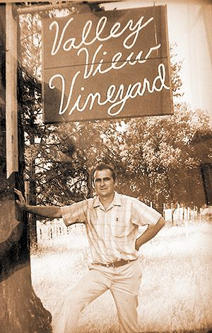 Frank Wisnovky founded Valley View Winery in 1972 near Jacksonville. ##Photo courtesy  / Valley View Winery