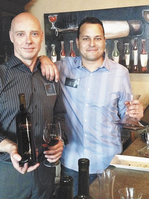 Script co-owners Fred Armstrong and Bradford Cowin, who is also the new label's winemaker. ##Photo provided