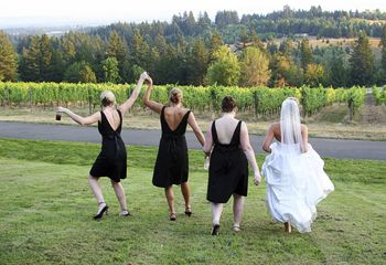 Weddings and other  special events  at wineries offer many owners an additional, and vital, stream of revenue.  Stock image