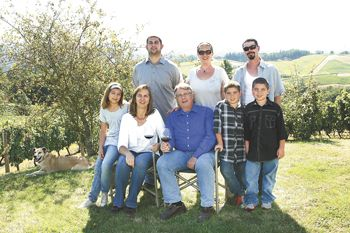 Back (left to right): son, Nate Chambers, daughter, Kaitlyn